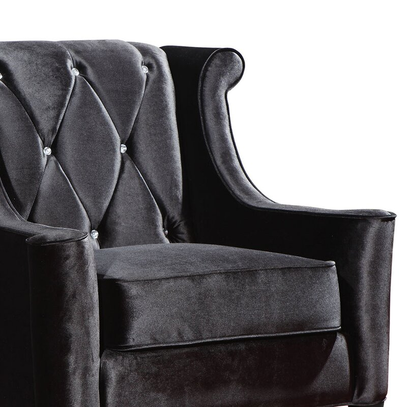 Marques Velvet Wingback Armchair