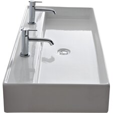 Teorema 47 Wall Mounted Bathroom Sink With Overflow