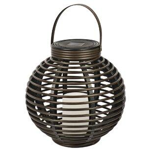 Solar Flickering Basket Hanging Plastic Lantern