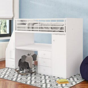 Sarah Single High Sleeper Bed with Workstation by Riley Ave.