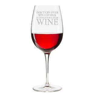 spill proof wine glass wayfair