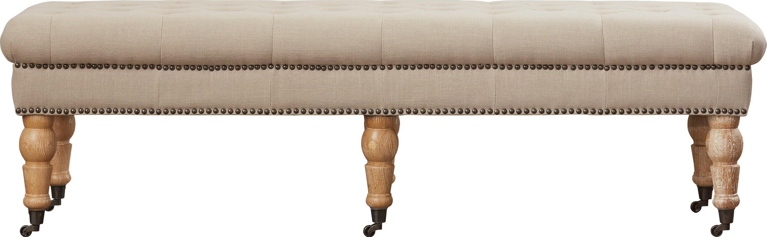 Beverly Upholstered Bench & Reviews
