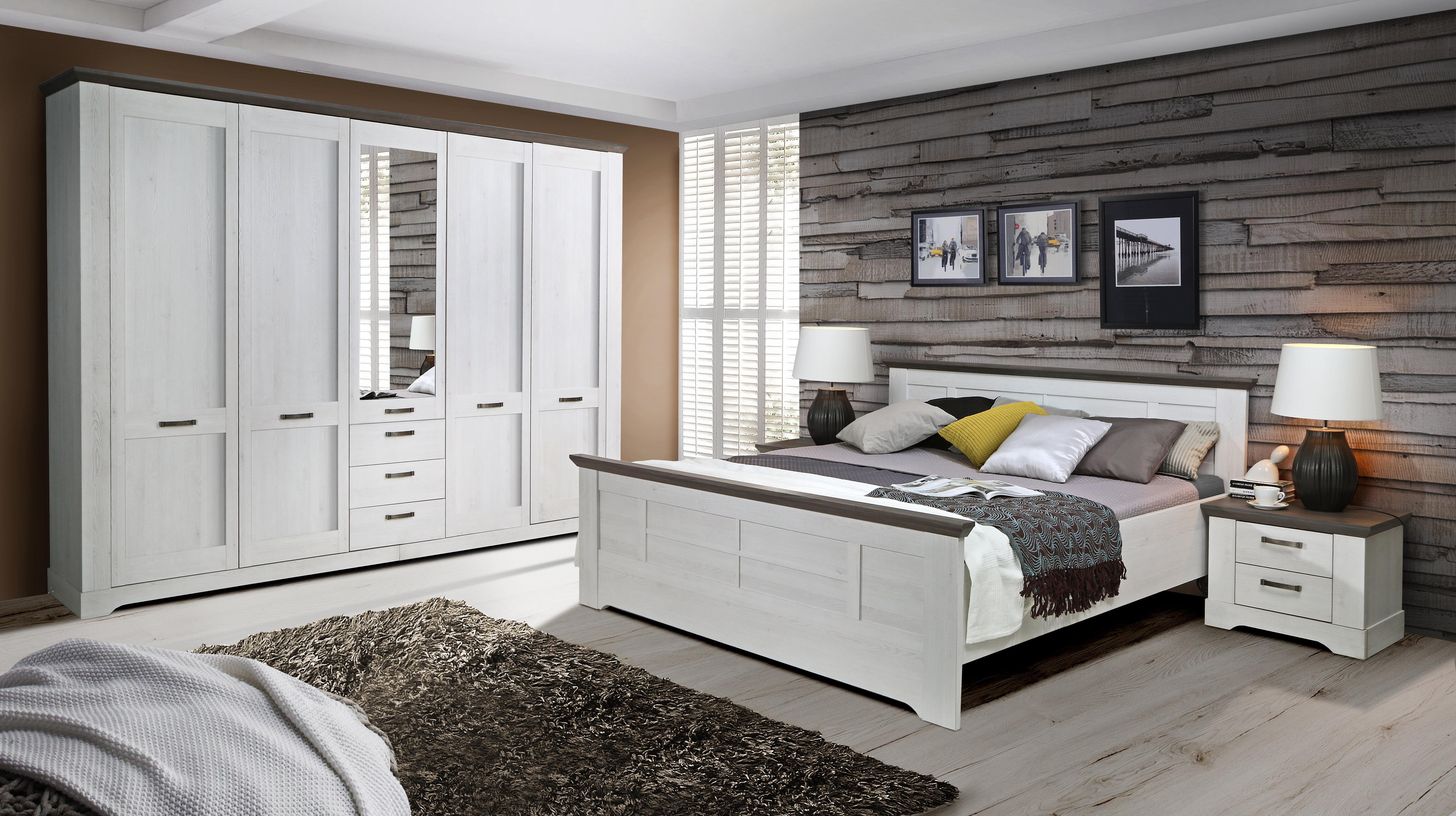 Anpassbares Schlafzimmer-Set Demmer, 180 x 200 cm