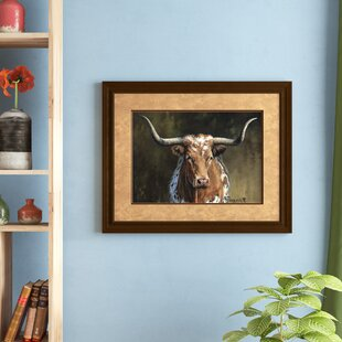d6ccc3f73f  Longhorn  Framed Graphic Art Print