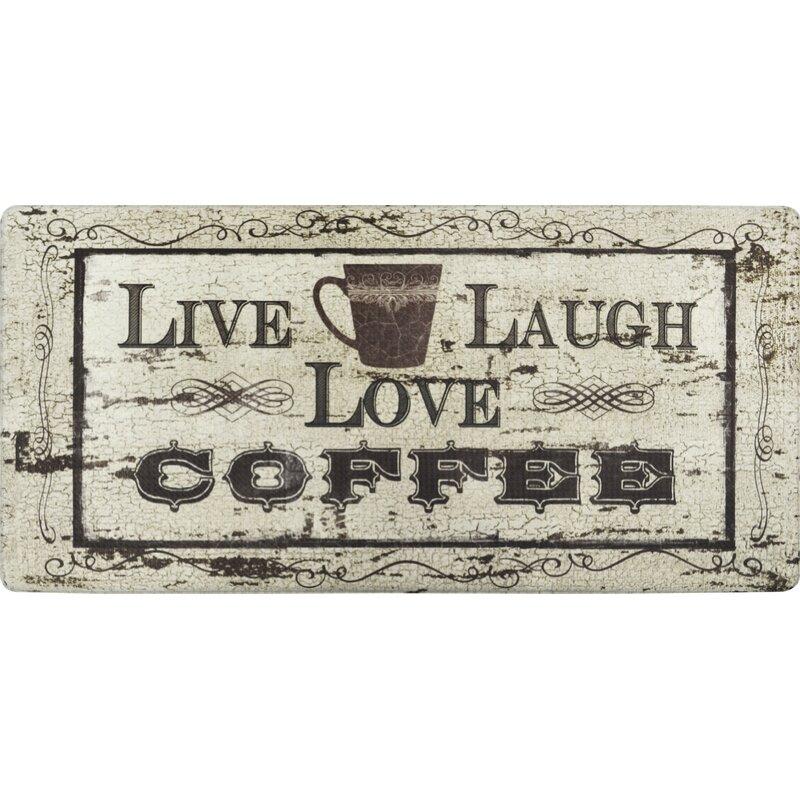 Nicole Miller Cook N Comfort Live Laugh Coffee Kitchen Mat Reviews Wayfair