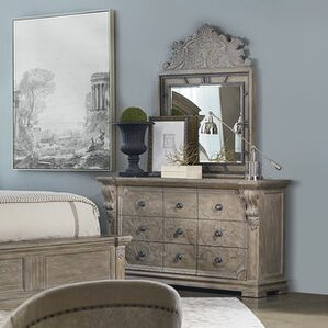 Carolin 9 Drawer Dresser with Mirror by One Allium Way