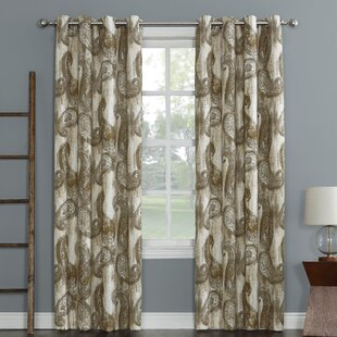 Presley Paisley Room Darkening Thermal Grommet Single Curtain Panel