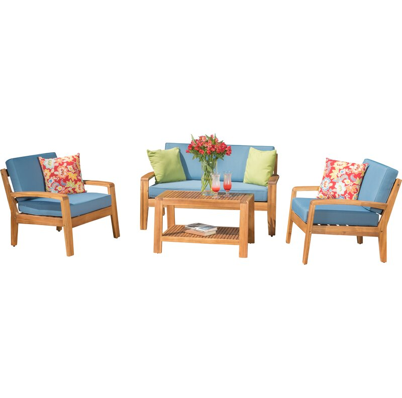 Berkley 4 Piece Sofa Set with Cushions