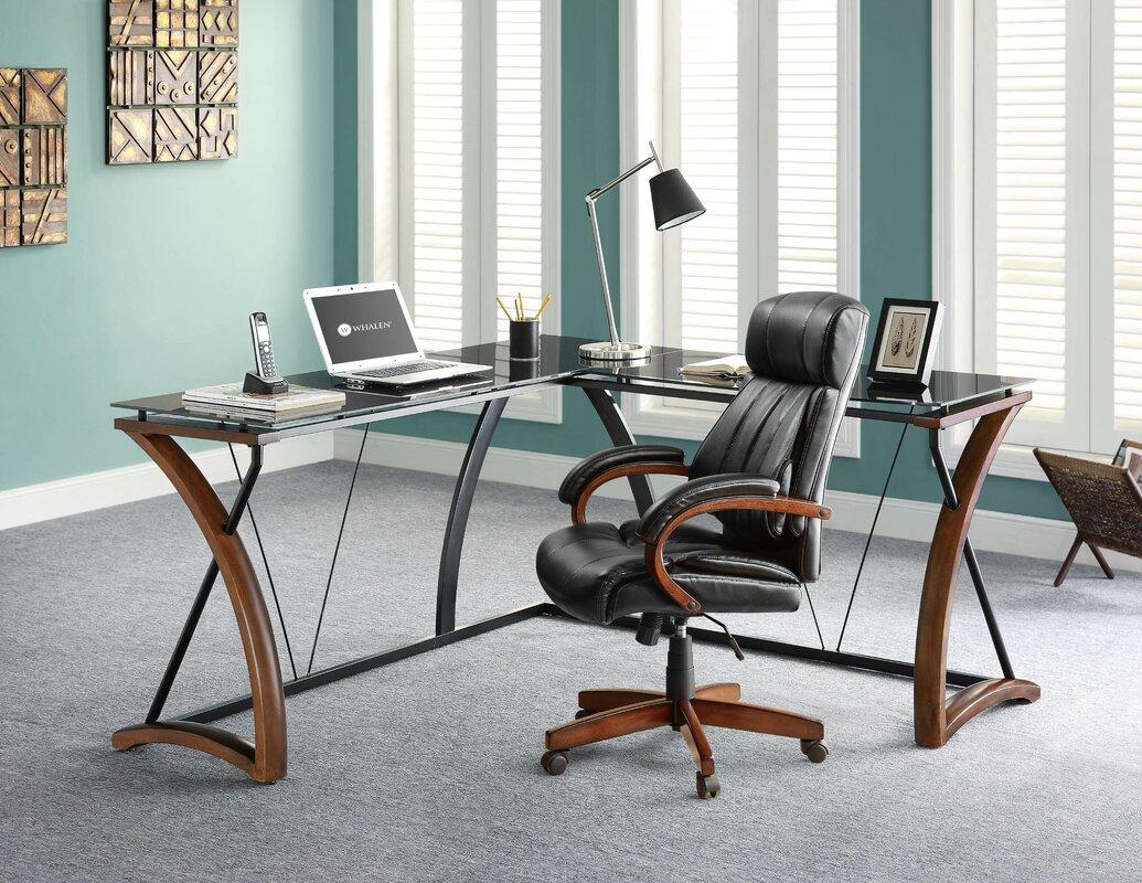 Whalen Furniture Newport L-Shape Corner Desk & Reviews