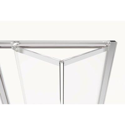 "Basco Infinity Bifold 31"" x 72"" Folding Semi-Frameless Shower Door  Finish: Brushed Nickel, Glass Type: Clear"