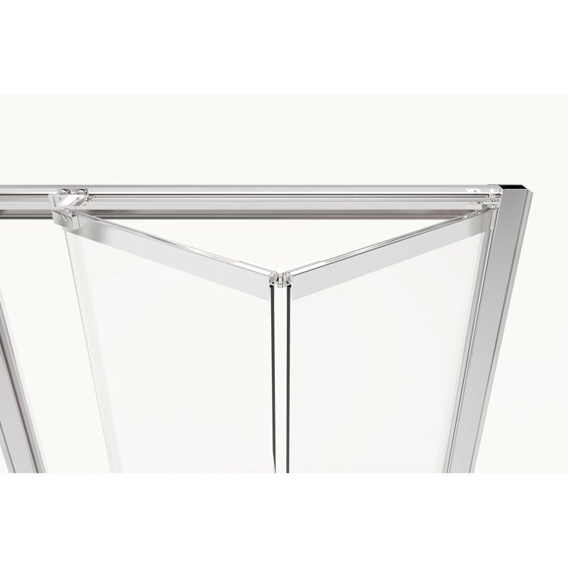 "Basco Infinity Bifold 31"" x 72"" Folding Semi-Frameless Shower Door  Finish: Brushed Nickel, Glass Type: Clear"