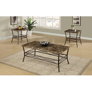 Canisteo Faux Marble Top 3 Piece Coffee Table Set  sc 1 st  Wayfair & Faux Marble Coffee Table Set | Wayfair