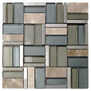 Iron Glass/Stone/Metal Mosaic Tile in Green