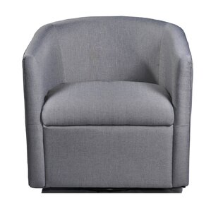 August Grove Sebastien Swivel Barrel Chair Image