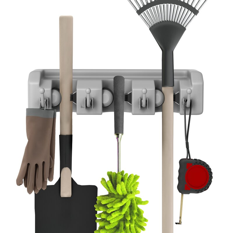 Garage Tool Wall Holders With Hooks