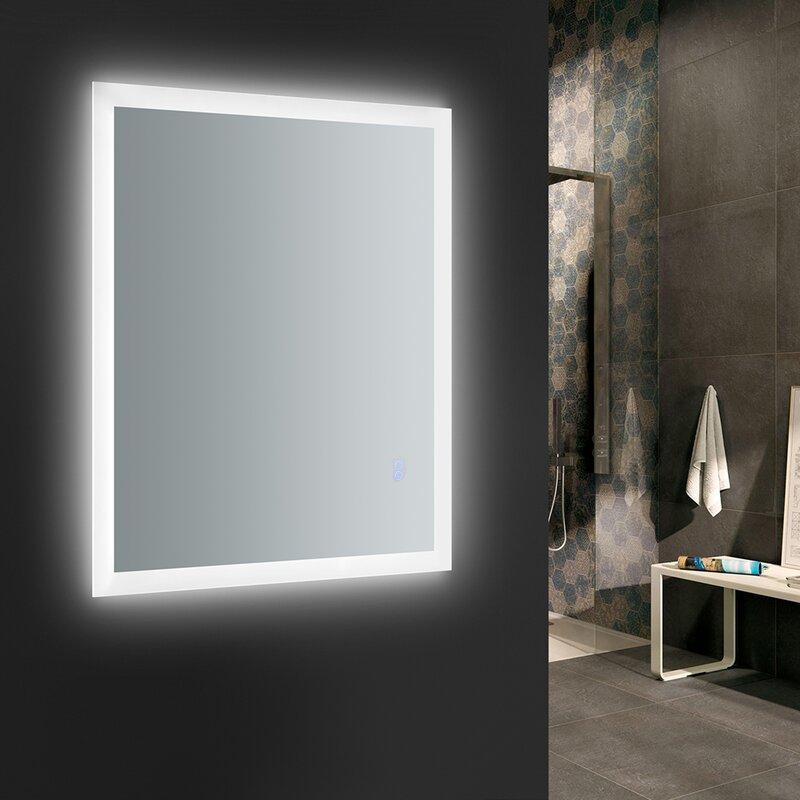 Beau Angelo Bathroom Mirror With LED Lighting And Defogger