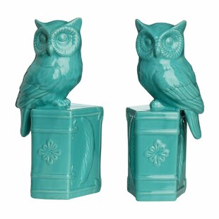 Strikingly Idea Bird Bookends. Owl on Book Bookends  Set of 2 Wayfair co uk
