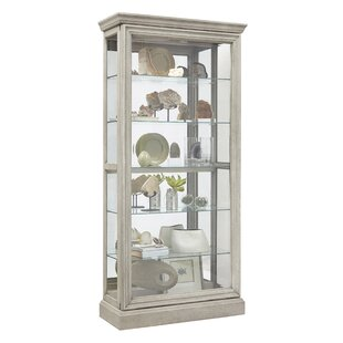 Codman 5 Shelf Sliding Door Lighted Curio Cabinet
