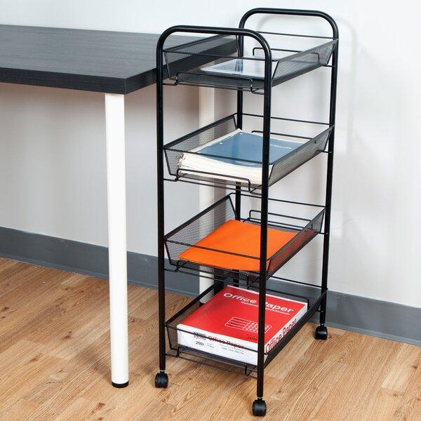 Mind Reader Roll Rolling Metal Mesh 4 Shelf Cart U0026 Reviews | Wayfair