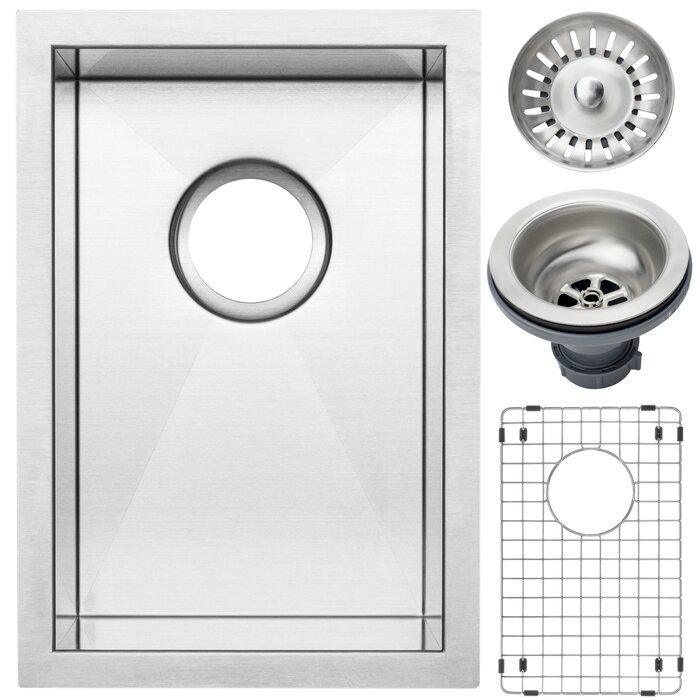 Ticor Sinks Ticor 12 L X 17 12 W Inch Zero Radius 16 Gauge