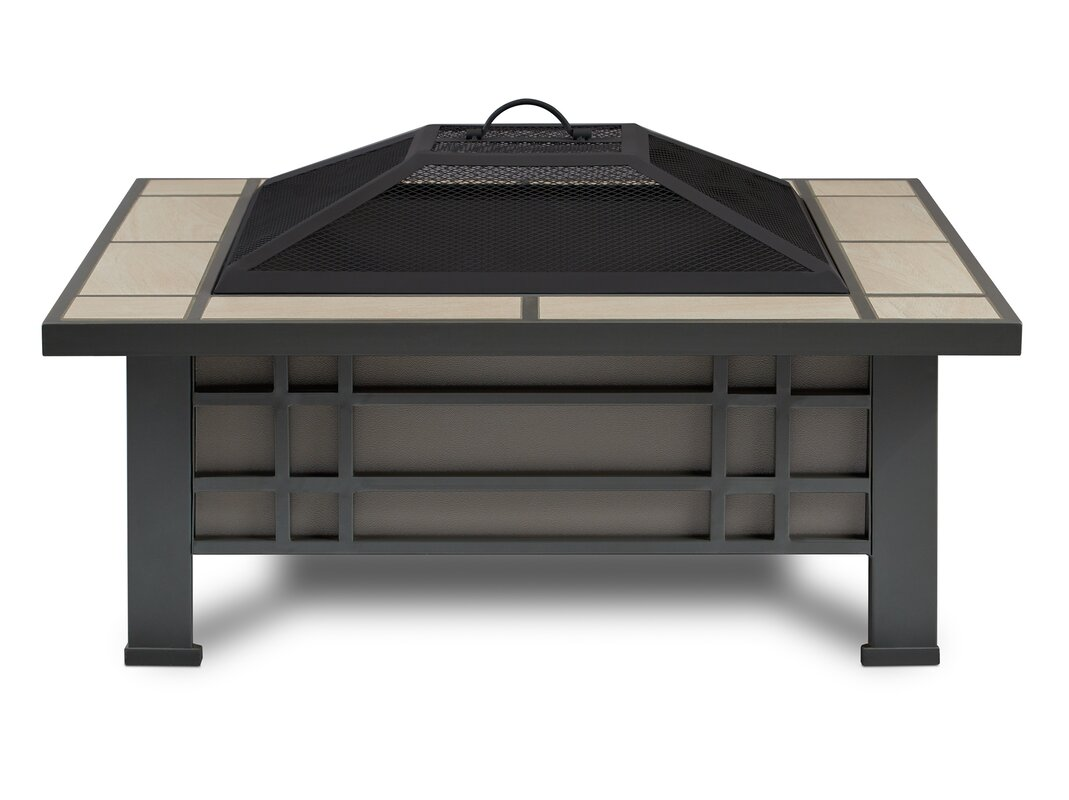 Superior Morrison Steel Wood Burning Fire Pit Table