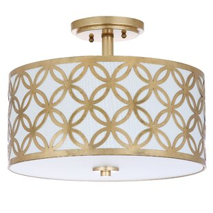 Modern & Contemporary Gold Semi Flush Light   AllModern