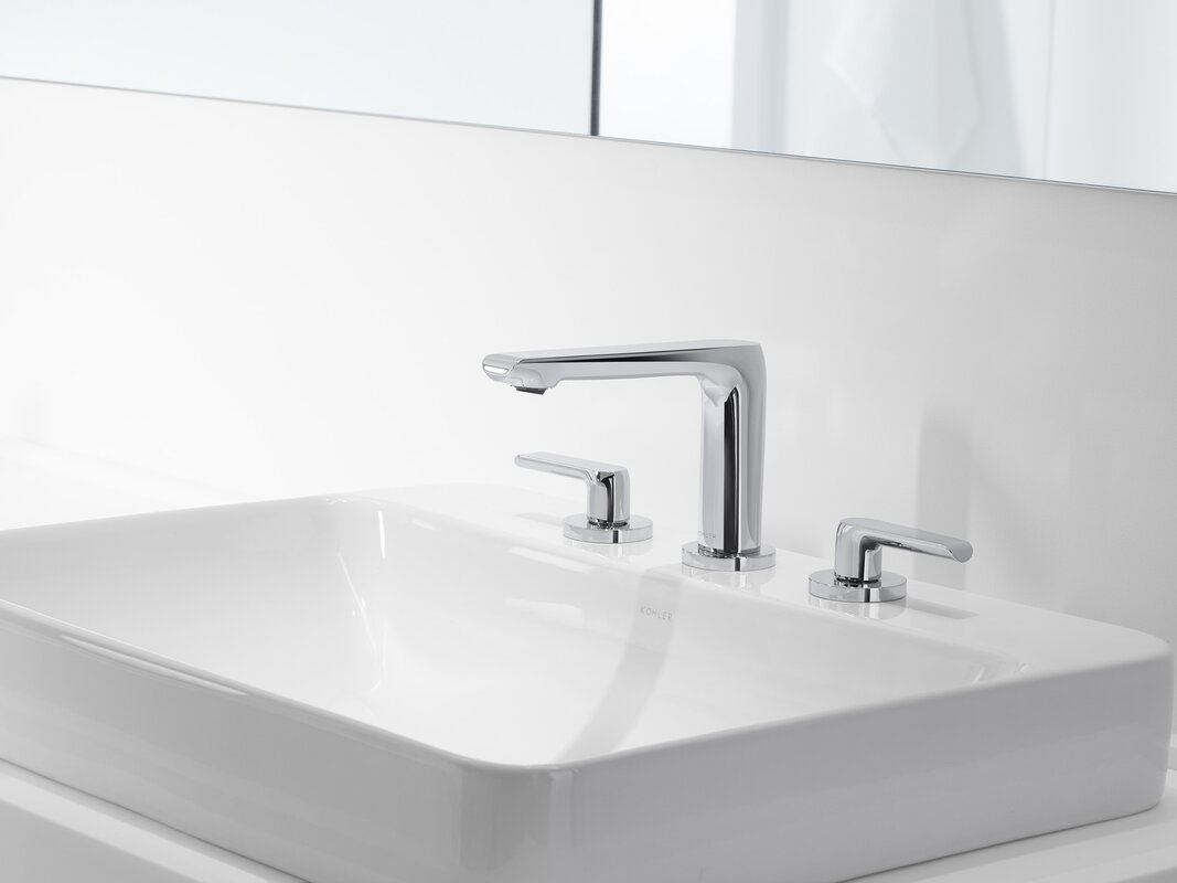 Kohler vox rectangular vessel bathroom sink with overflow for Are vessel sinks out of style