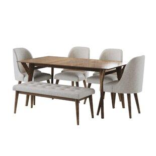 Ian Mid Century 6 Piece Dining Set