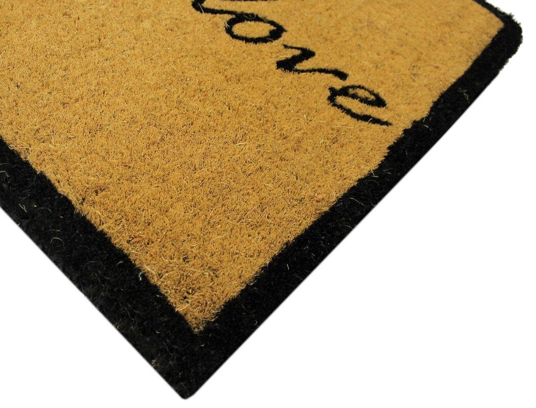 Estella Live Laugh Love Coco Coir Doormat & Reviews   Birch Lane