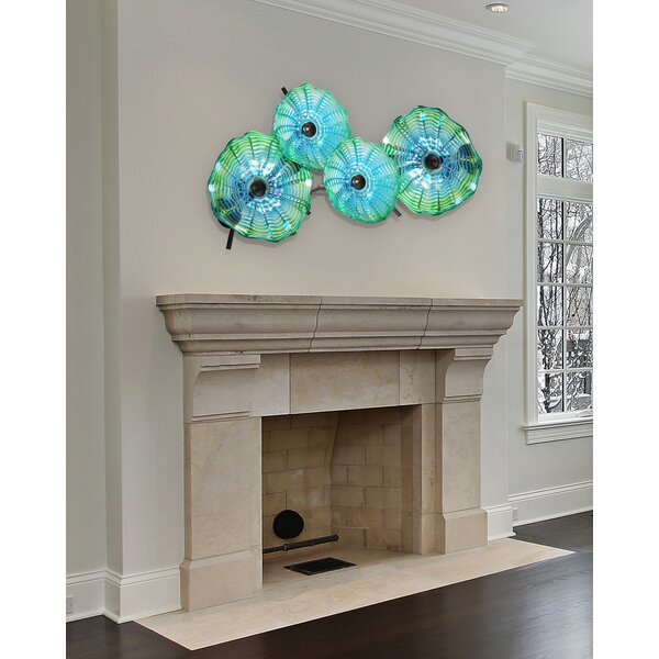 Latitude Run 4 Piece Hand Blown Glass Wall Décor U0026 Reviews | Wayfair