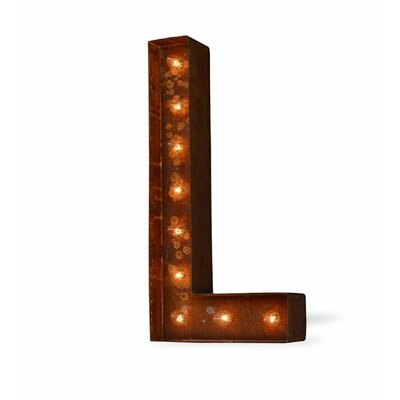 Laurel Foundry Modern Farmhouse Alphabet Letter Steel Marquee Sign Wall Décor Letter: L
