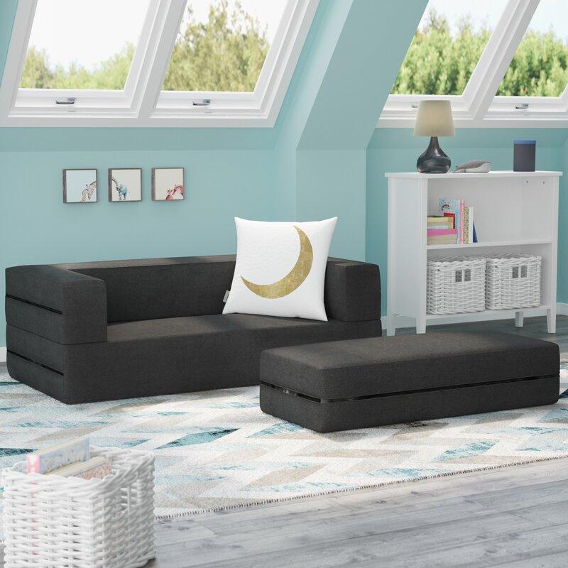 Gol Kids Convertible Sleeper Sofa And Ottoman