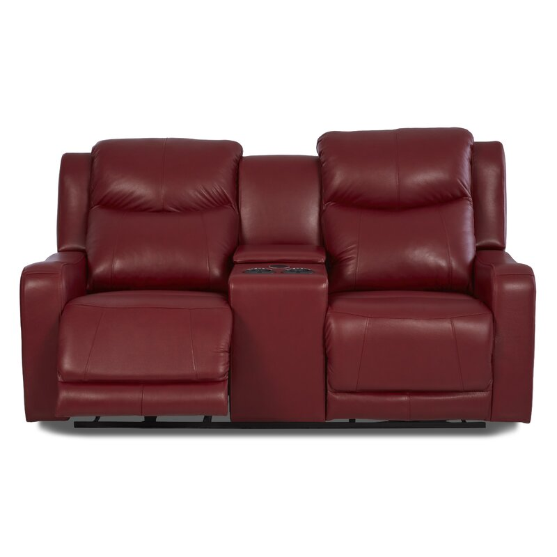 Superbe Theodore Reclining Sofa With Headrest And Lumbar Support