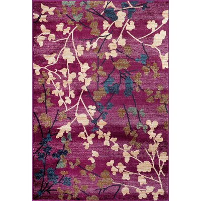 Floral Amp Plant Purple Area Rugs You Ll Love Wayfair