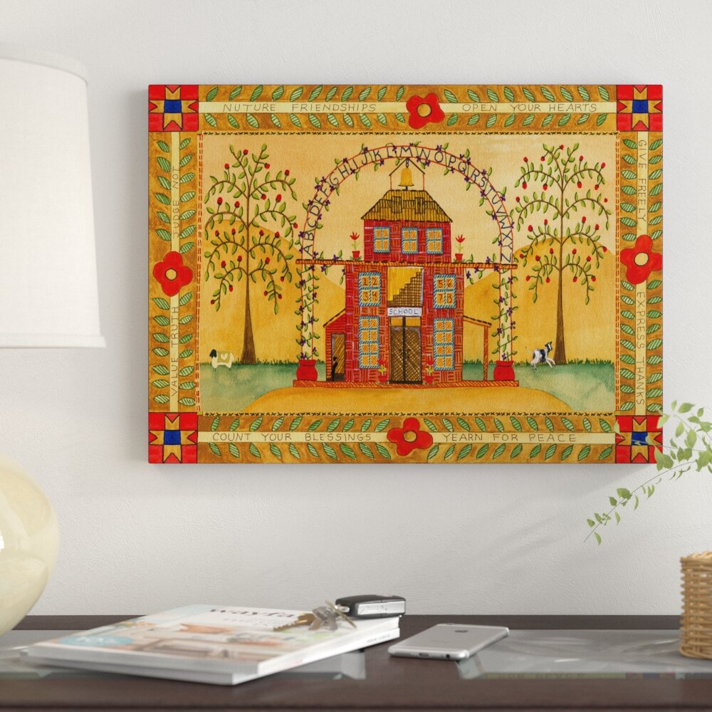 Winston Porter \'School House Blessings Nurture Friendships\' Acrylic ...