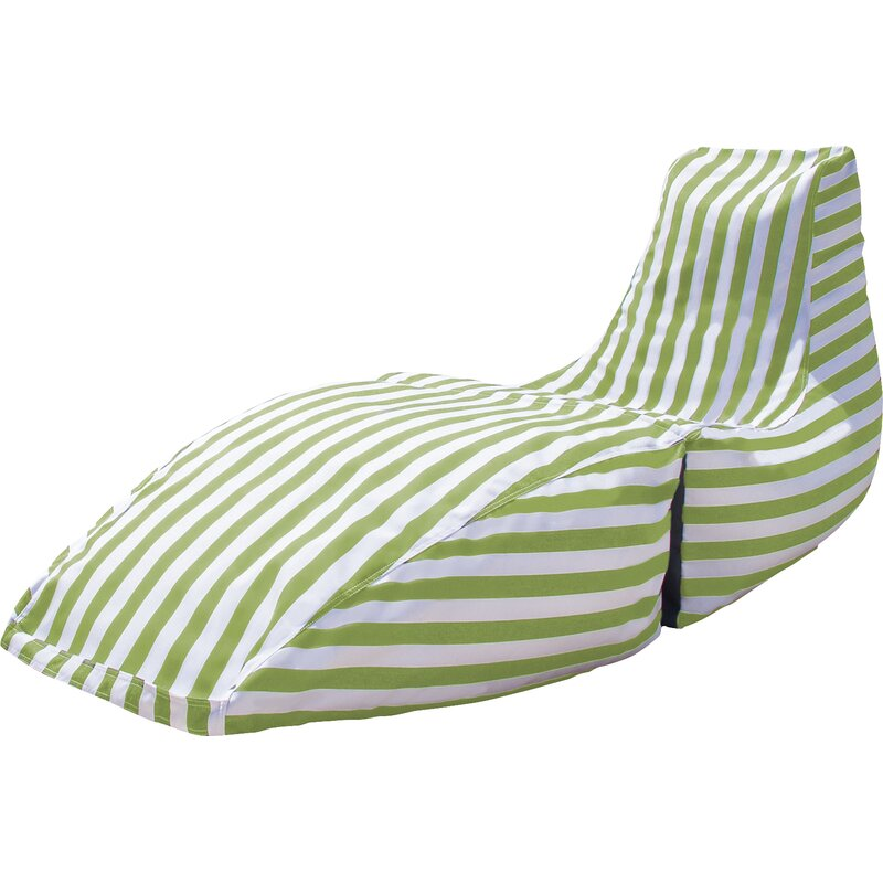 Remarkable Prado Outdoor Striped Bean Bag Chaise Lounge Chair Inzonedesignstudio Interior Chair Design Inzonedesignstudiocom