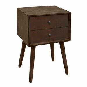 Benton Wood End Table with Storage by George Oliver
