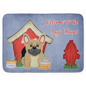 Dog House French Bulldog Brindle Memory Foam Bath Rug