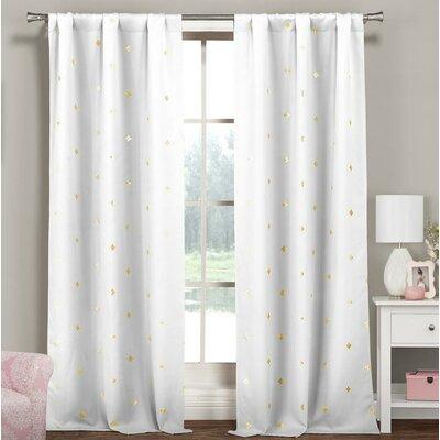 White Metallic Curtains Wayfair