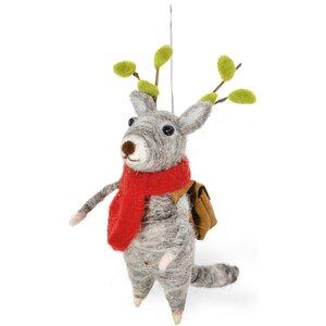 Reading Reindeer Prancer Hanging Figurine (Set of 2)