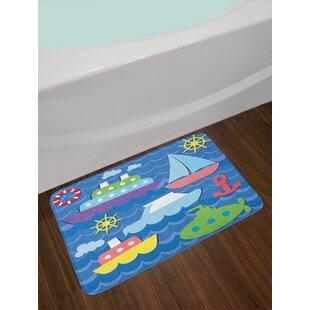 Vector Sea Theme Bath Rug