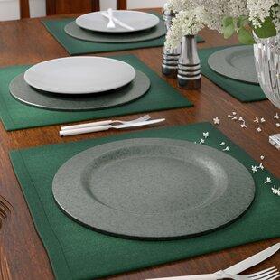 Josh Galvanized Charger Plate Set (Set of 4)