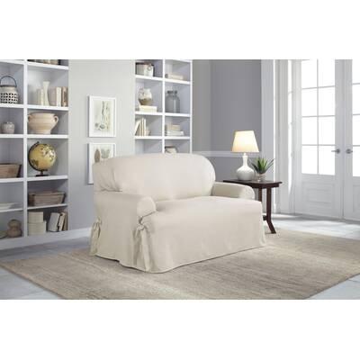 Serta Cotton Duck T Cushion Sofa Slipcover Reviews Wayfair