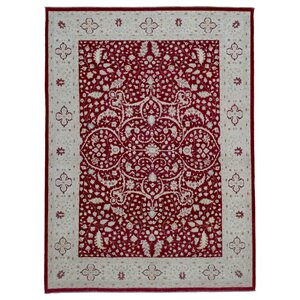 One-of-a-Kind Ardith Hand-Woven Wool Red Area Rug