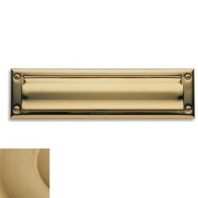 Baldwin 13 in x 3.6 Brass Mail Slot Color: Vintage Brass