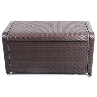 modern home coconut bay weatherproof outdoor rattan storage box - Patio Storage Box