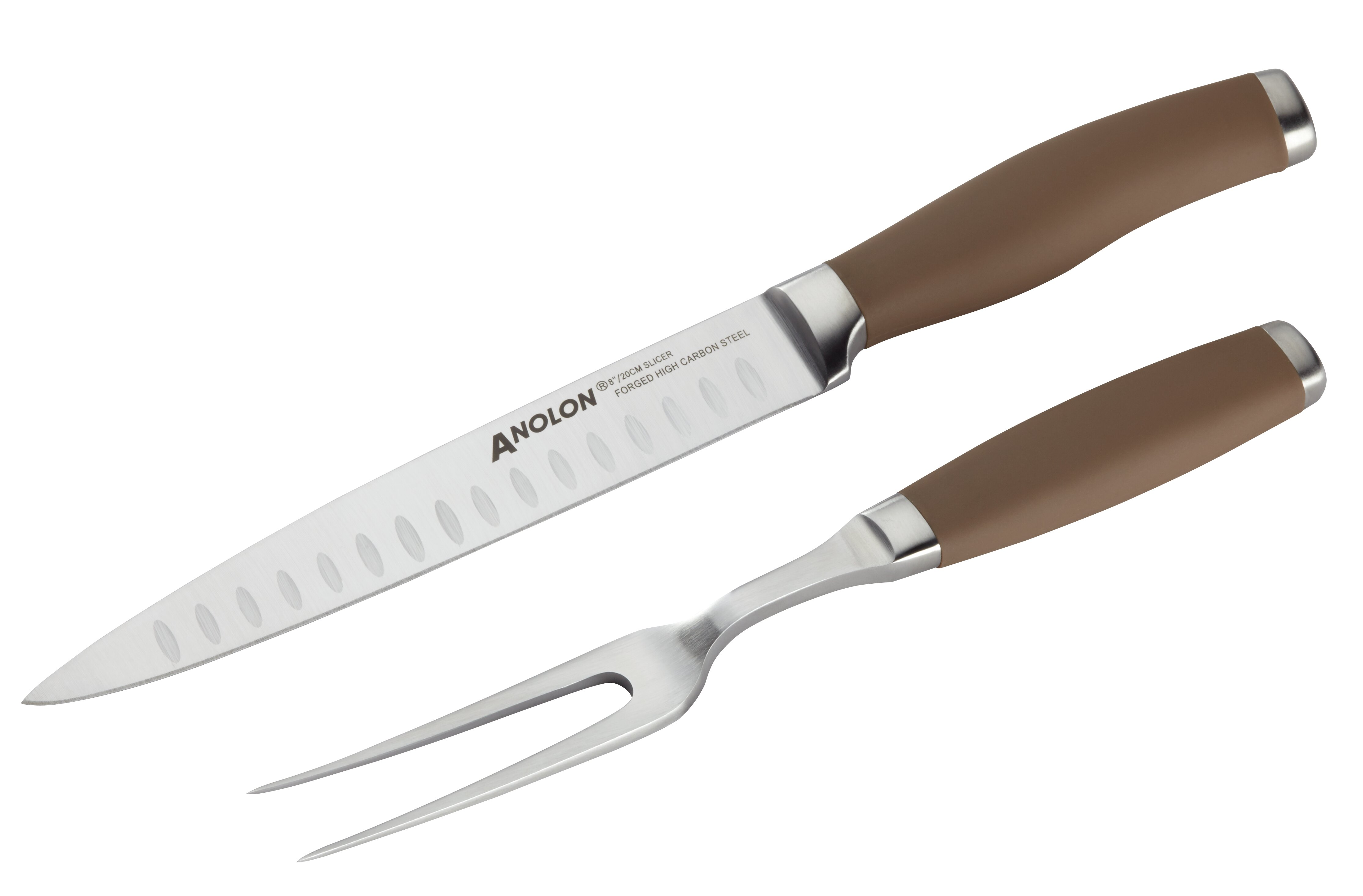 Anolon 2 Piece Carving Knife and Meat Fork Set | Wayfair