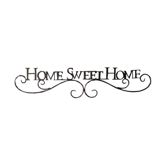 Metal Scroll Home Sweet Home Sign Wall Decor