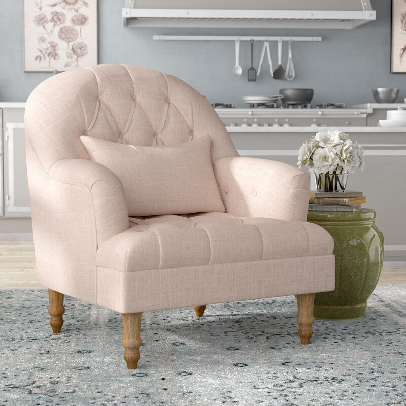 Bon Palafox Tufted Armchair
