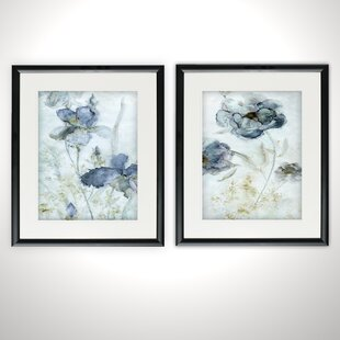 224766c96c4c  Morning Iris  2 Piece Framed Graphic Art Print Set